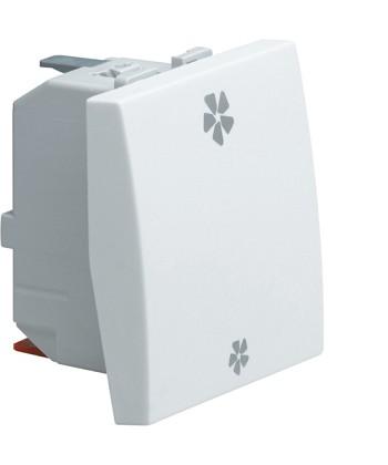 Łącznik klawiszowy regulator obrotów; Systo; 2 moduły; biały; 10A/250V