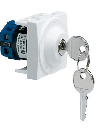 Łącznik na klucz 2 pozycyjny; Systo; 2 moduły; biały; 10A/250V