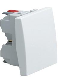 Łącznik klawiszowy przyciskowy zwierny; Systo; 2 moduły; biały; 10A/250V