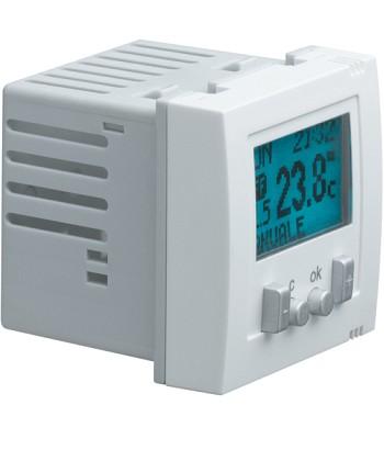 Regulator temperatury pomieszczenia ze sterowaniem czasowym, Systo; 2 moduły; bi
