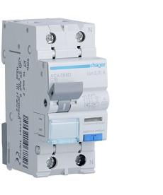 RCBO Wyłącznik różnicowoprądowy z członem nadprądowym 1P+N 10kA C 16A/10mA Typ A