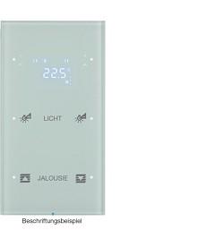 R.3 Sensor dotykowy 2-krotny z reg. temp. konfigurowalny, biały, szkło