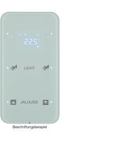 R.1 Sensor dotykowy 2-krotny z reg. temp. konfigurowalny, biały, szkło