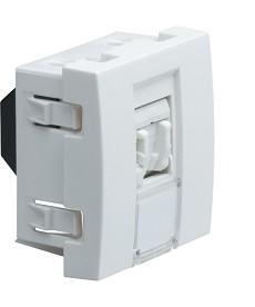 Gniazdo informatyczne RJ45 Cat.5e FTP Systo 2 moduły biały