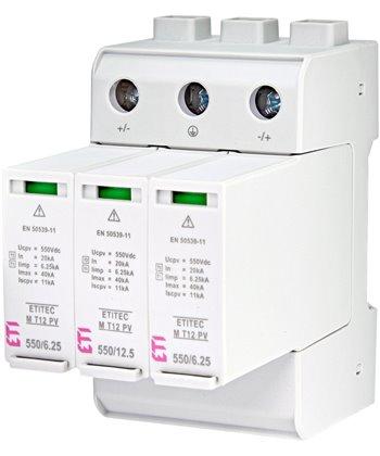 Ogranicznik przepięć do systemów fotowoltaicznych ETITEC EM T12 PV 1100/6,25 Y ETI 002440580