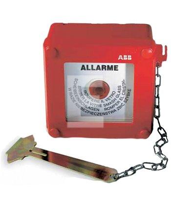 Przycisk przeciwpożarowy natynkowy z młotkiem 13180 ABB