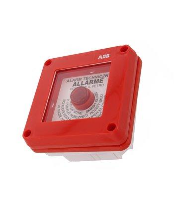 Przycisk przeciwpożarowy podtynkowy z młotkiem ABB 13183