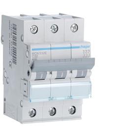 Wyłącznik nadprądowy 3p/3x32a c 6ka hager mc332a (mcn332e)