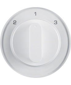 R.1/R.3 Płytka czołowa z pokrętłem do łącznika 3-pozycyjnego, biały, połysk