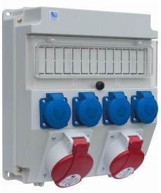 R-BOX LUX 320, 1x32A/5p, 1x16A/5p, 4x250V, puste okno