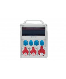 R-BOX 380R 13S, 1x32A/5p, 2x16A/5p, 4x250V, puste okno