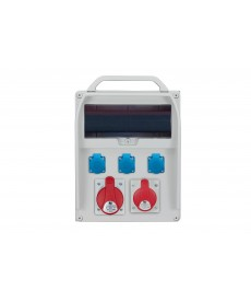 R-BOX 380R 13S, 1x32A/5p, 1x16A/5p, 3x250V, puste okno