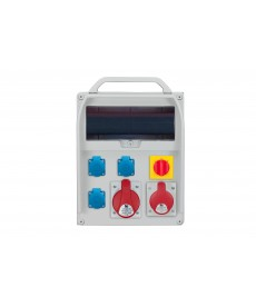 R-BOX 380R 13S, 1x32A/5p, 1x16A/5p, 3x250V, w ł. L/P, puste okno