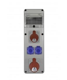 rozdz.R-BOX SLIM 6S 1X32A/5p, 1x16A/5p, 2x230V