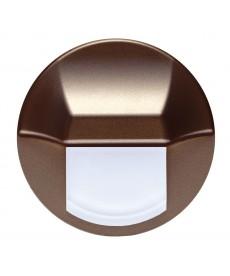 LED EPSILON (duże koło), brązowy metalik, biały zimny, puszka