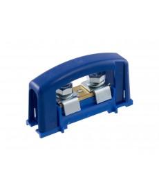 Zacisk ochronn 2x35, niebieski z pokr wą