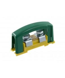 Zacisk ochronn 2x35, żółto-zielon z pokr wą