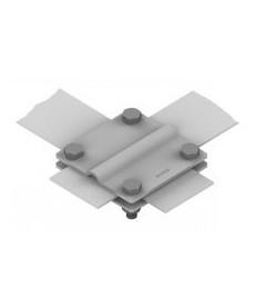 ZŁĄCZE KRZYŻOWE /DUŻE/ B50 MM (2 PŁYTKI-4XM8) OCYNKOWANE OGNIOWO AN-03A/OG