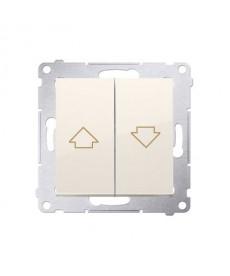 Przycisk żaluzjowy 10ax 250v. Szybkozłącza dzp1.01/41