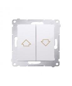 Przycisk żaluzjowy 10ax 250v. Szybkozłącza biały kontakt dzp1.01/11