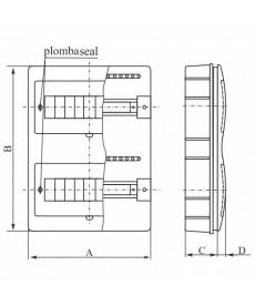 ROZDZ. P/T RP-8 (N+PE) FALA ELEKTRO-PLAST OPAT 8.2
