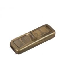 Wył. suwakowy,przelotowy 2-torowy 2,5A/250V, złoty