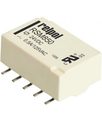 Przekaźniki RSM850, monostabilne, 2 zest ki przełączne, 2 A, do montarzu SMT. We