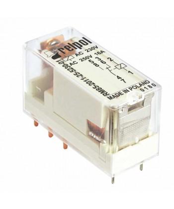 Przekaźnik elektromagnet czn , miniaturow z przeźrocz sta obudową, do obwodu dr