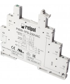 Gniazdo do przekaźnika RM699BV i RSR30 - Wejście: 6VDC, szerokość: 6,2mm