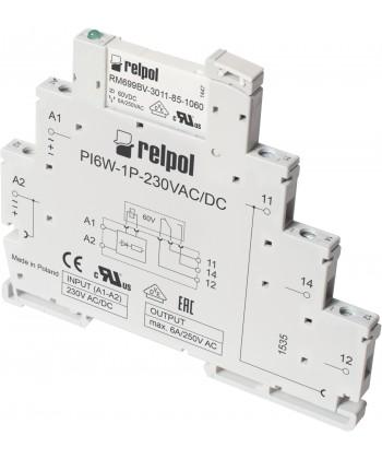 Przekaźnik interfejsow wąskoprofilow : 1P - jeden zest k przełączn . Szerokość