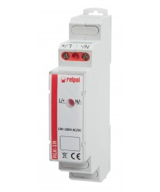 Lampka kontrolna jednofazowa -czerwona