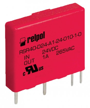 SSR, 1-fazow , załączanie bezzwłoczne. W jście: 1x240 V AC / 1A - w prowadzenia: