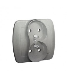 Gniazdo x2 z/u p\t agz2/26 srebro akord kontakt-simon