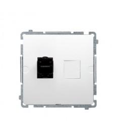 Gniazdo komputerowe rj45 x1 kat6 bm61.01/11 białe basic moduł k