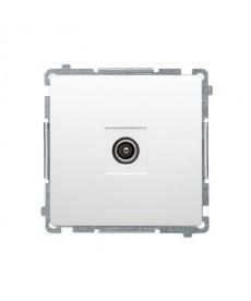 Gniazdo antenowe rtv koncowe bmak3.01/11 biały basic moduł kontakt