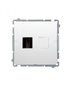 Gniazdo hdmi pojedyncze (moduł) białe bmghdmi.01/11 basic moduł ko