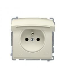 Gniazdo 1x ip bmgz1b.01/12 beżowe basic moduł kontakt-simon