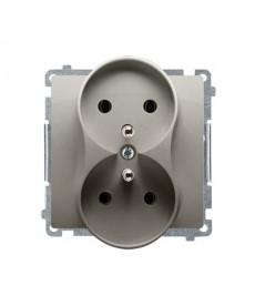 Gniazdo x2 z/u p\t bmgz2m.01/29 satyna basic moduł kontakt-simon