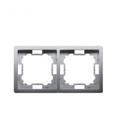 RAMKA X2 BMR2/21 INOX  BASIC KONTAKT-SIMON