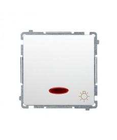 Łącznik światło bms1l.01/11 bialy podwietlony basic moduł kont