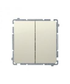 Łącznik schodowy podwójny p\t beż, basic moduł kontakt-simon bmw6