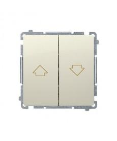 Łącznik żaluzjowy bmz1.01/12 beż basic moduł kontakt-simon