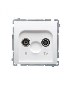 Gniazdo antenowe rtv końcowe bmzar1/1.01/11 białe basic moduł ko