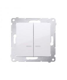 Łącznik świecznikowy (moduł) 10 ax, biały kontakt-simon dw5bl.01/11