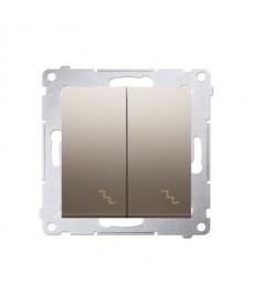 Łącznik schodowy podwójny (moduł) 10 ax złoty kontakt-simon dw6/