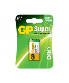 BATERIA 9V BLISTER-1 SUPER ALKALINE GP BATTERY 1604A-U1