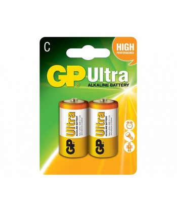 BATERIA LR14 BLISTER-2 ULTRA ALKALINE GP BATTERY 14AU-U2