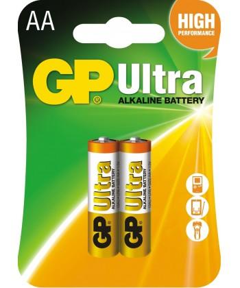 BATERIA LR6 AA BLISTER-2 ULTRA ALKALINE GP BATTERY 15AU-U2