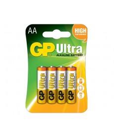 BATERIA LR6 AA BLISTER-4 ULTRA ALKALINE GP BATTERY 15AU-U4