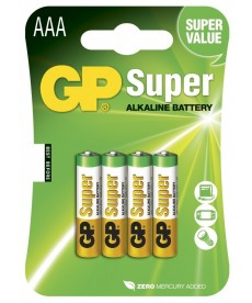 Bateria lr3 aaa blister-4 super alkaline gp battery 24a-u4